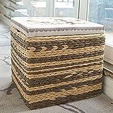 GAIHU Storage di archiviazione Sgabello Sgabello solido quadrato divano in legno sgabello di moda per calzatura carta sgabello serie di calzature Prenota Storage Storage Box