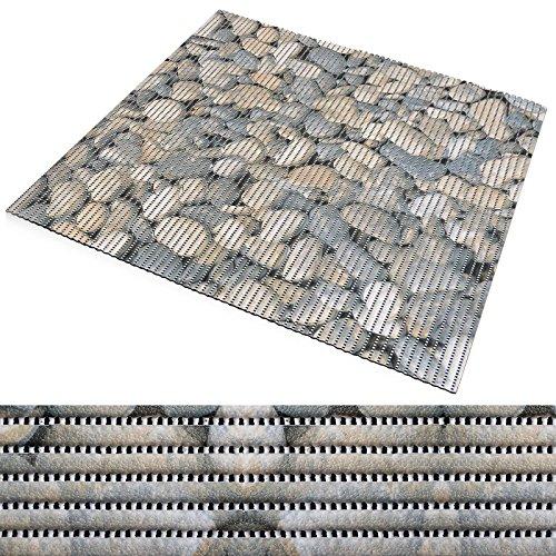 Badematte aus Weichschaum | zahlreiche Größen | schadstoffgeprüft gemäß REACH | rutschfester Badvorleger | abwaschbar & schnelltrocknend | 65x50 cm | Stein-Optik
