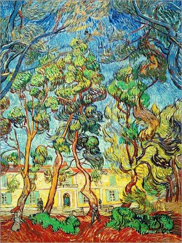 Poster 30 x 40 cm: Heilanstalt in Saint-Rémy von Vincent Van Gogh/akg-Images - hochwertiger Kunstdruck, neues Kunstposter -