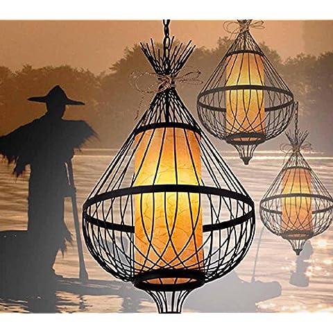 KHSKX Nuovo lampadario di ferro battuto birdcage di cinese-stile, retrò