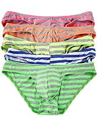 Homme String Slip Triangle Sous-vêtement Sexy Coton Bikini Briefs Basic Lot de 5