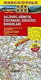 MARCO POLO Karte Salzburg, Kärnten, Steiermark, Südliches Burgenland 1:200.000 (MARCO POLO Karten 1:200.000)
