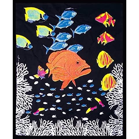 Old Glory nuoto pesci luce Tapestry Home Décor