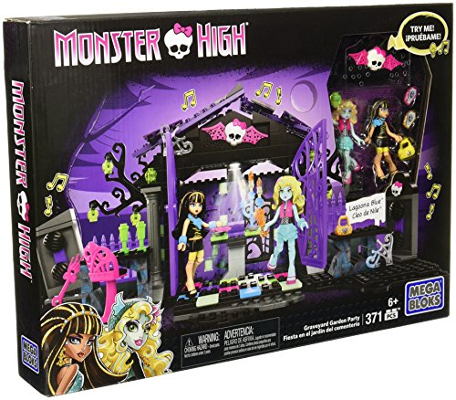 Mega Bloks Toy - Monster High Graveyard Garden Party 371 Piece Playset Cleo de Nile Lagoona Blue