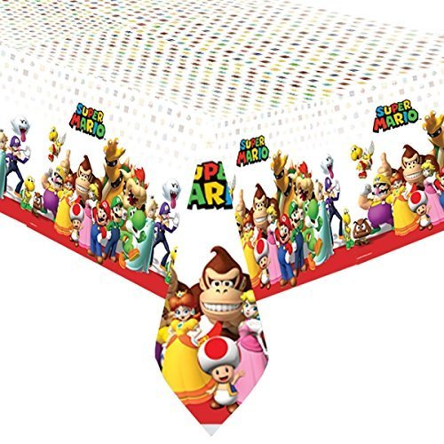 Super Mario Bros Plastic Party (Bros Mario Party Super Supplies)