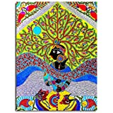 Tamatina Madhubani Canvas Paintings - Jai Sri Krishna - Radha Krishna Paintings - Traditional Art Paintings - Paintings For Home Décor - Paintings For Bedroom - Paintings For Living Room - Religious Canvas Paintings - Madhubani Paintings For Wall