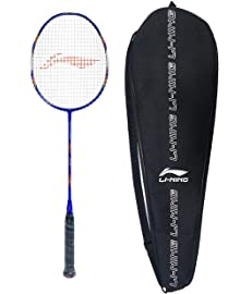 Li Ning SS G5 Series Carbon Graphite Strung Badminton Racquet with Free Racket Cover