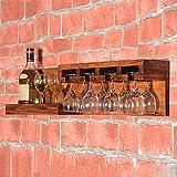 LIXIONG colgar en la pared botellero para Porta Botellas Soporte de copa Estantes de exhibición ( Color : #2 )