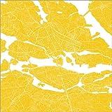 Posterlounge Forex-Platte 100 x 100 cm: Stockholm Stadtplan Q Sun von 44spaces