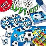 geburtstagsfee Football anniversaire de Kit de décoration, 55pièces d'anniversaire pour enfants Garçons et Filles et le football de Devise de Fête pour 8Kids