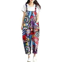 Style Dome Salopette Donna Estiva Cotone Jumpsuit Elegante Senza Maniche Taglie Forti Tuta Donna Pantaloni Lunghi…
