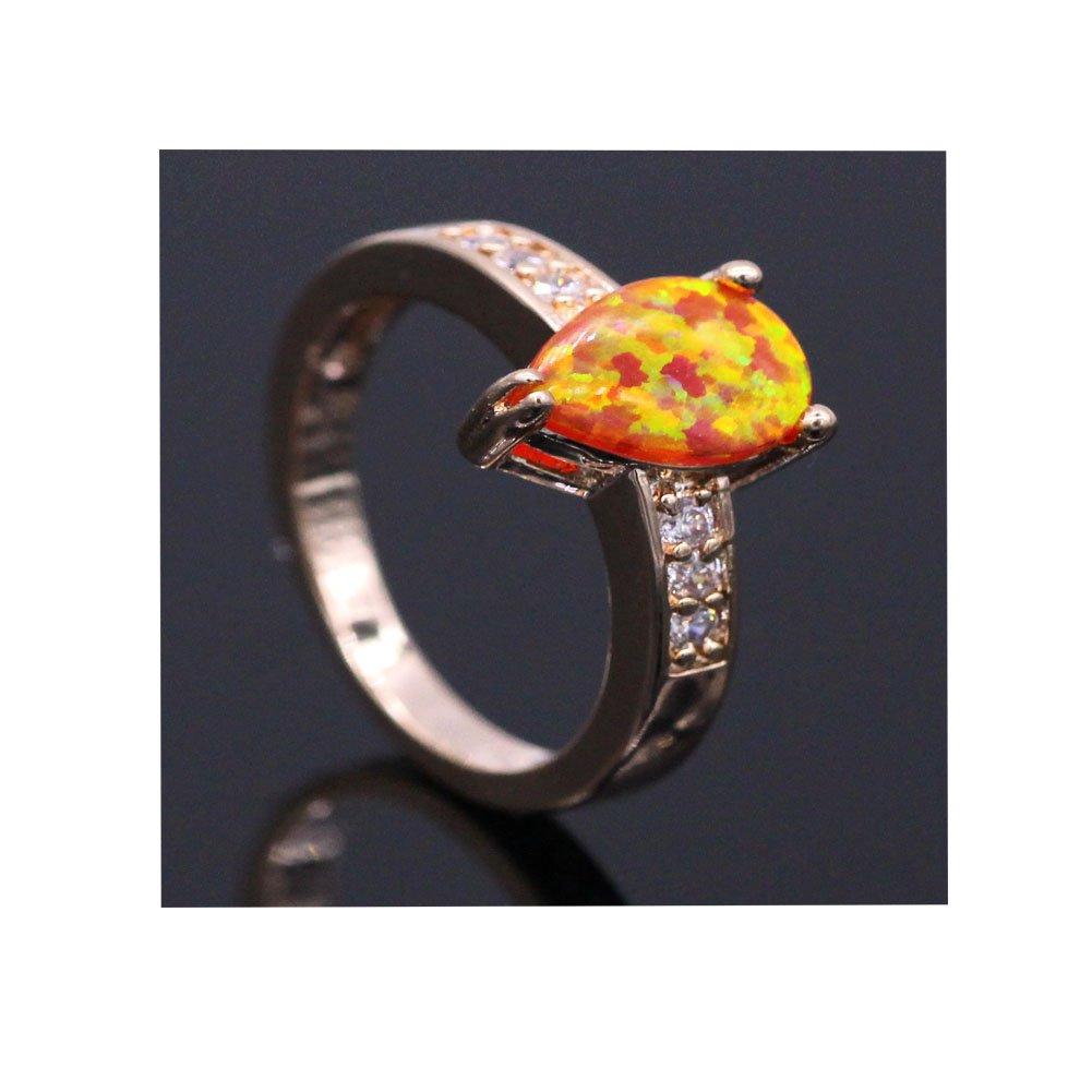 LOVE STUDIO, anello di modo delle signore l'auricolare AAA Zircon gocce forma anelli di barretta oro
