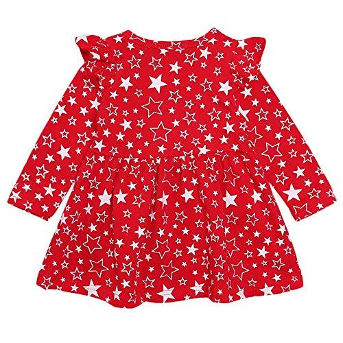 Sanahy Mädchen Langärmliges MeshSpleiss Puff Rock Kleinkind Baby Mädchen Denim Kleid Langarm Prinzessin Tutu Kleid Kleidung - Herren Arbeitshemd Aus Denim