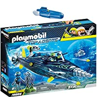 Playmobil Top Agents 2 pcs. Set 70005 7350 TEAM S.H.A.R.K. Drill Destroyer + Underwater Motor