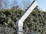 Abwinklung für Doppelstabpfosten, 45 Grad - Adapterstück MIT Aufsteckrohr - Befestigung für Stacheldraht