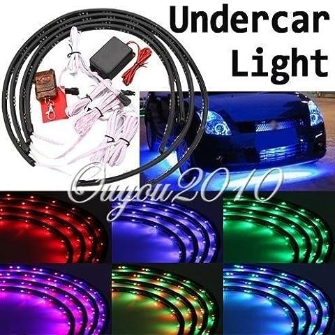 4dessous de voiture sous Glow 7Couleur bande LED flexible Neon Lights Kit + Télécommande