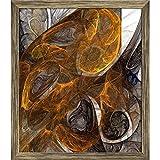 ArtzFolio Digital Fractal 1 Canvas Painting Antique Golden Frame 6 x 6.8inch