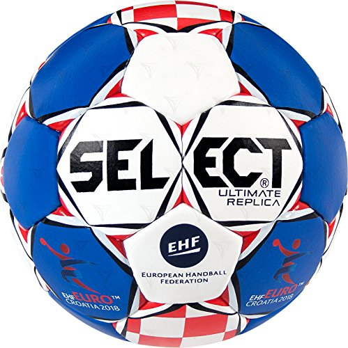 Select Ultimate Replica Ehf Euro 2018 Handball, Blau/Weiß/Rot, 2