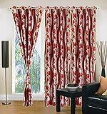 "Home Elite Eyelet Fancy Polyester 3 Piece Curtain set-60""x48"""