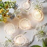 20er LED Blumen Lichterkette warmweiß Strombetrieb Timer Lights4fun