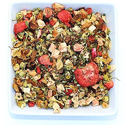 Tealyra - Strawberry Seduction - Chamomile and Strawberry Herbal Tea with South African Rooibos Tea - Loose Leaf Relax Tea - Blend - Caffeine Free - 100g