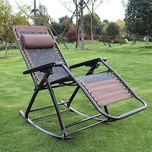 Schaukelstuhl Erwachsene Können Zum Mittagessen Gefaltet Werden Glücklicher Stuhl Büro Balkon Strandstuhl Alter Mann Rückenstuhl