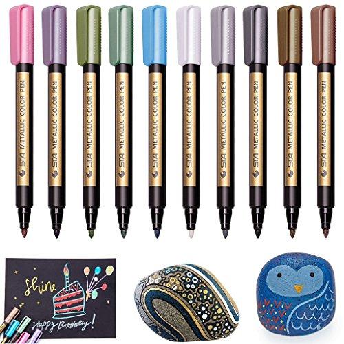 Metallic Marker Pens, Beupro 10 Stück