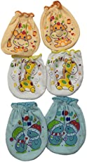 Blue Berrys Baby Mittens-(Pack Of 3 Set)