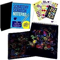 Purple Ladybug Novelty Cuaderno de Manualidades para Rascar Bloc de Anillas de Formato Grande con 20 Hojas de Papel Rascable, Ideal para Colorear y Dibujar | Incluye una Muestra Gratis