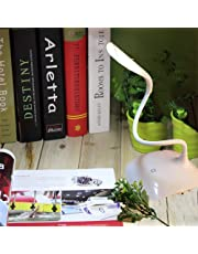 Vency Rechargeable LED Desk Light with Twisted Tube |Touch Sensor Switch | USB Charging | Cycle Charge LED Lighting | 3-Level Adjustable Brightness | Table Lamp for Study.