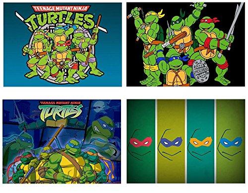 4 Tischsets mit Motiven von Teenage Mutant Ninja turtles (Cartoon)