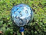 Wunderschöne Glaskugel Rosenkugel in silber-blau ca 25 cm Durchmesser