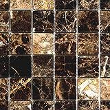 Mosaik Fliese Marmor Naturstein Impala braun poliert für BODEN WAND BAD WC DUSCHE KÜCHE FLIESENSPIEGEL THEKENVERKLEIDUNG BADEWANNENVERKLEIDUNG Mosaikmatte Mosaikplatte