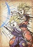 """Poster Dragon Ball """"Wanted"""" Gohan & Goku - A3 (42x30 cm)"""