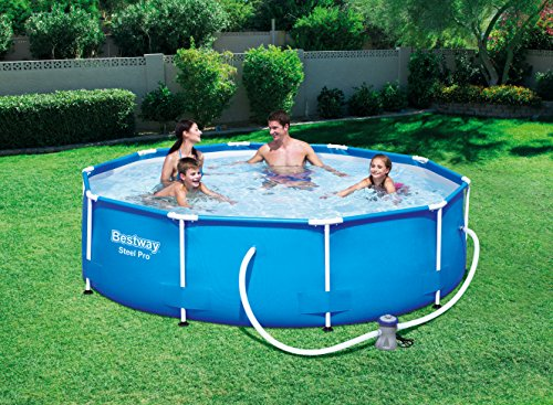 Bestway Steel Pro Frame Swimming Pool with Pump – 10 feet x 30 inch