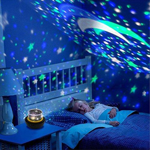 ektor-Lampe, Diamant-Cosmos und Stern-Projektor, USB und Batterieunterstützung mit 3 Modi und wechselbaren Mustern für magische Party und Kinderzimmer Universe Style ()