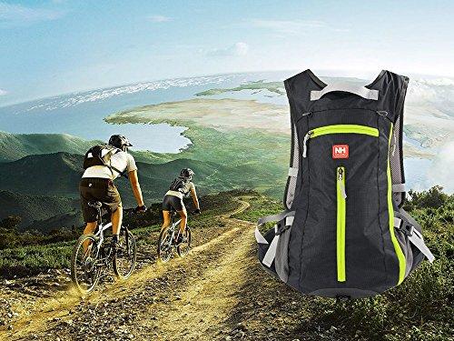 niceEshop(TM) Naturehike Outdoor Sport Tasche Fahrrad Camping Kletterrucksack Schwarz Kletterrucksack