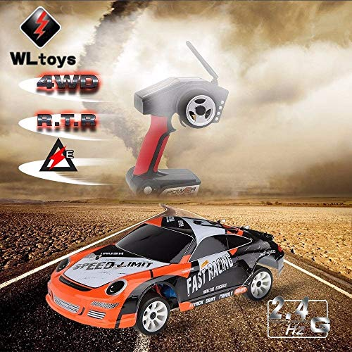 RC Drift Car kaufen Drift Car Bild 1: ZMH Hochgeschwindigkeits Auto 35Km H Fernbedienung 1 24 2,4 G Elektrisch Geb rsteter Motor RC Drift Car 4WD RTR RC Auto Geschenke Kinder Kids Boy*