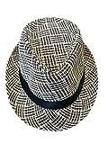 CLUB CUBANA Hawaiianische Fedora Hüte für Männer Frauen Unisex Trilby Hut Panama Stil Sommer Strand Sonne Jazz Luau Kostüm Party Kappe Schwarz Braun