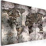 Cuadro 120x80 cm - 3 tres colores a elegir - 3 Partes - Formato Grande - Impresion en calidad fotografica - Cuadro en lienzo tejido-no tejido - mapa del bocao k-A-0003-b-g 120x80 cm