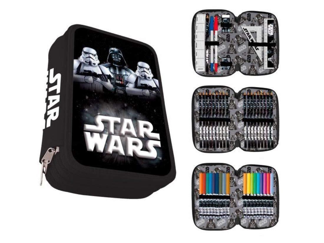Astro, Plumier Triple Star Wars, Kylo Ren, Stormtrooper, 44 Piezas. AST5090