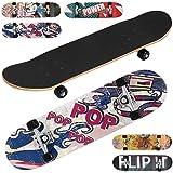 Physionics Skateboard, Kugellager: ABEC 5, L/B/H: 78,7/20,3/12 cm, Designwahl | Komplettboard | Cruiser Board - Pop
