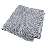 Homeofying, coperta estiva per neonati, grande e spessa, lavorata a maglia