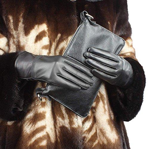 (Neue Damen Lange Fingerlose Handschuhe Blumen Wärmen Parteien Arm Herbst Sets Und Winter Unikat Style Blue Fäustlinge (Color : Schwarz, Size : One Size))