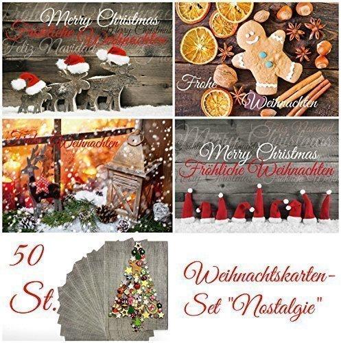 Frohe Weihnachten Frohes neues JahrNostalgie Weihnachtskarten Weihnachtspostkarten-Set 28 verschiedene Motive weihnachtskarten Gru/ßkarten zu Weihnachten und Neujahr 28 St.