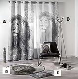 Kamaca WILD Instinct - Lion Africa - Motiv D : Teppich 120 cm rund