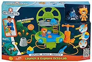 Fisher Price Octonauts Toy - Launch and Explore - Octo Lab Playset - Includes Shellington Deep Sea Action Figure