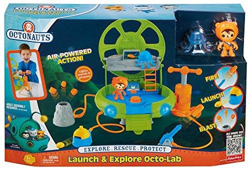 Mattel CHL15 - Die Oktonauten - Launch & Explore Octo-Lab Spielset inkl. Sebastian Figur [UK Import] (Einzigartige Ideen Für Die Baby-halloween-kostüme)