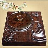 Cenicero KKY-Enter Cuadrado Zen Master Carving Madera Maciza Madera Maciza...