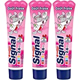 Signal Kids Dentifrice Enfants 2 à 6 Ans Gout Fraise 50ml - Lot de 3